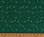 Cotton Shamrocks Wreaths Circles Four-Leaf Clovers Saint Patrick's Day Irish Lucky Charms Basics Green Cotton Fabric Print by the Yard (92004-72GREEN)