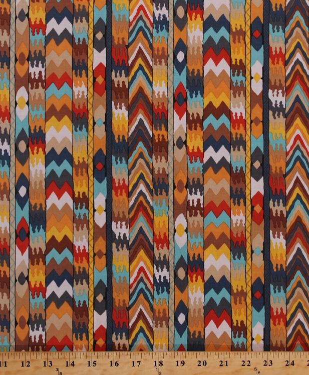 Cotton Tribal Southwestern Southwest Stripes Chevrons