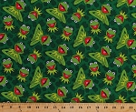 Cotton Kermit Toss Kermit the Frog Muppets Green Frogs Cotton Fabric Print by the Yard (16097)
