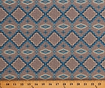 Cotton Southwestern Tribal Design Geometric Diamonds Indian Native American Southwest Mountain Pass Blue Gray Cotton Fabric Print by the Yard (50683-3)