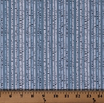 Patric Lose Let/'s Go Camping Birch Stripe Quilt Fabric Style 63934 Blue