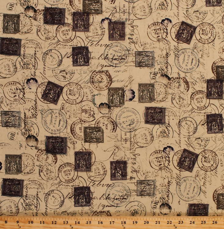 Cotton Tim Holtz Eclectic Elements Meter Marks Stamps