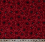 Cotton Poppies Poppy Flowers Floral Garden Spring Landscape Red Cotton Fabric Print by the Yard (POPPIES-C5835-RED)
