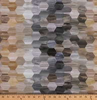 Cotton Hexagons Tonal Honeycomb Browns Grays Neutrals Laura Berringer Color Moods Small Hexagon Cotton Fabric Print by the Yard (R21-9827-0141)