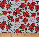 Cotton Kentucky Derby Winners Circle Roses Flowers Horse Racing Equestrian Cotton Fabric Print by the Yard (60579-D650715)