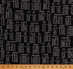 Cotton Test Tubes Science Experiments Chemistry Lab Laboratory Black Education School Teachers Science Fair 2 Cotton Fabric Print by the Yard (SRK-17928-2BLACK)