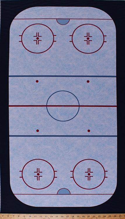 235 X 44 Panel Ice Hockey Rink Ice Rink Diagram Field Layout