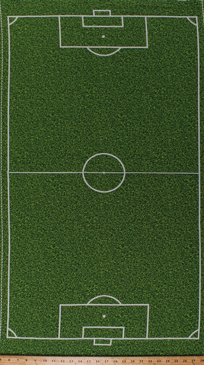 235 X 44 Panel Soccer Field Grass Turf Playing Field Diagram