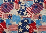 Cotton American Flag Stars & Stripes Old Glory Red White Blue Patriotic Fourth of July Independence Day Cotton Fabric Print by the Yard (D669.05)