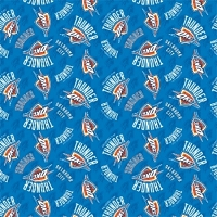 Cotton Oklahoma City Thunder Blue NBA Pro Basketball Sports Team Cotton Fabric Print by the yard (83okc0002)
