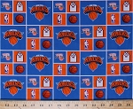 Cotton New York Knicks NBA Pro Basketball Sports Team Cotton Fabric Print by the yard (020knicks)