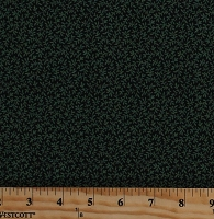 Cotton Leaves Green Leafy Branch Vines on Black Landscape Jamestown Nancy Gere Cotton Fabric Print by the Yard (43343-1)