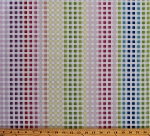Cotton Manhattan Modern Multi-Color Gingham Check Squares Checkered Colorful Cotton Fabric Print by the Yard (02748-99)