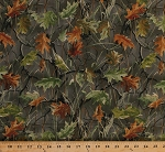 Cotton Tree Branches Leaves Leaf Camouflage Camo Outdoors Gray Cotton Fabric Print by the Yard (2951B-8N)