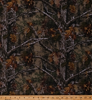 Cotton True Timber Camo Camouflage Hunting Trees Oak Leaves Woods Forest Kanati Cotton Fabric Print by the Yard (TT-1002-6C-1MARSH)
