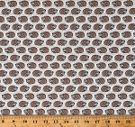 Cotton Hedgehogs Hedgies Animals Footprints Tracks on Light Taupe Woodland Pitter Patter Cotton Fabric Print by the Yard (22571-11LTTAUPE)