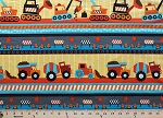 Cotton Construction Zone Trucks Cranes Dump trucks Cotton Fabric Print by the Yard (Kidz-c1874-Yellow)