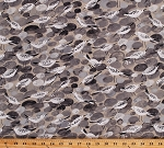 Cotton Sandpipers Shorebirds Ocean Shore Birds Seashore Rocks Stones Beach Nautical Cotton Fabric Print by the Yard (DC7325-STON-D)