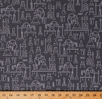 Cotton Science Experiments Chemistry Lab Laboratory Equipment Beakers Test Tubes on Gray Science Fair 2 Cotton Fabric Print by the Yard (SRK-17929-12GREY)