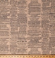 Cotton Newspaper Newsprint News Headlines Historical Events History World Wars Tea-Dyed Look
