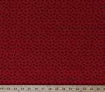 Cotton Ants Insects Bugs on Red Patriotic Picnic Cotton Fabric Print by the Yard (C8006-RED)