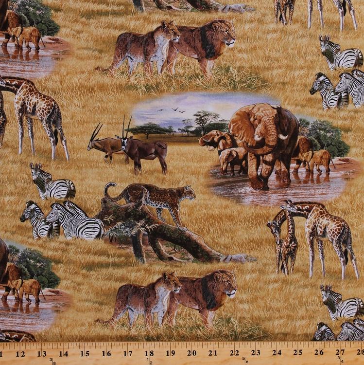 Cotton Lion Lioness Elephants Cheetahs Zebras Giraffes