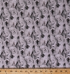 Cotton Landscape Medley Birch Tree Bark Gray Cotton Fabric Print by the Yard (4324-gray)