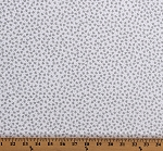 Cotton Hearts Tiny Silver Metallic Hearts on White Love Valentine's Day Cotton Fabric Print by the Yard (7717M-09)