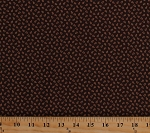 Cotton Dots Circles Spots Brown Jo Morton Cinnamon & Spice Civil War Reproduction Historical Vintage Cotton Fabric Print by the Yard (p0260-3980-n)