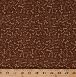 Cotton Dog Bones Toys Allover Dogs Puppies Pets Animals Puppy Park Brown Cotton Fabric Print by the Yard (c2954-brown)