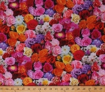 Cotton Rose Garden of Roses Flowers Blooms Floral Valentine's Day Digital Print Cotton Fabric Print by the Yard (D520MULTI)
