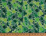 Cotton Green Frogs Animals Amphibians Camouflage Camo Mix Cotton Fabric Print by the Yard (04819-44)