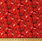 Cotton Tomatoes Red Tomato Fruits Garden Vegetables Farmer's Market Food Festival Cotton Fabric Print by the Yard (436RED)