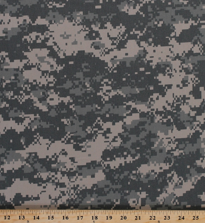 Digital Camo Twill Green Nylon Cotton Camouflage Fabric By