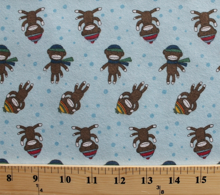 Flannel Sock Monkey Monkeys Winter Apparel Hats Scarves