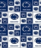 PSU Penn State University™ Nittany Lions™ College Cotton Fabric Print - sps020s