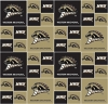 Cotton Western Michigan University™ Broncos™ WMU College Cotton Fabric Print (swm020s)