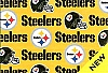 Pittsburgh Steelers on Yellow NFL Pro Football Cotton Fabric Print