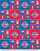 Cotton Detroit Pistons NBA Basketball Sports Team Cotton Fabric Print by the yard spistons020s
