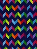 Cotton Fiesta Chevron Striped Zigzag Navy Blue Rainbow Cotton Fabric Print By the Yard (Fiesta-c1523-navy)