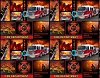 Fire Department Firemen Fire Fighters Trucks Fleece Fabric Print by the Yard o1425s **HAS MIS-SPELLING**