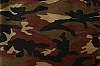 Fleece (not for masks) Woodland Camouflage Green Fleece Fabric Print by the Yard o17365-2b