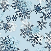 Fleece (not for masks) Blizzard Light Blue Snowflakes Fleece Fabric Print by the Yard o22359-1b