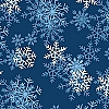 Fleece (not for masks) Blizzard Dark Blue - Snowflakes Fleece Fabric Print by the Yard o22359-3b