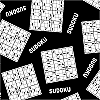 Sudoku Fleece Fabric Print by the Yard o26194b