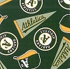 Fleece (not for masks) Oakland A's Athletics MLB Baseball Sports Team Fleece Fabric Print by the yard