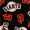 Fleece (not for masks) San Francisco Giants MLB Baseball Sports Team Fleece Fabric Print by the yard
