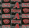 Fleece (not for masks) Arizona Diamondbacks MLB Baseball Sports Team Fleece Fabric Print by the yard