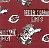 Fleece (not for masks) Cincinnati Reds MLB Baseball Sports Team Fleece Fabric Print by the yard