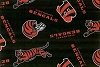 Fleece Cincinnati Bengals on Black NFL Football Fleece Fabric Print by the Yard (s6240df)
